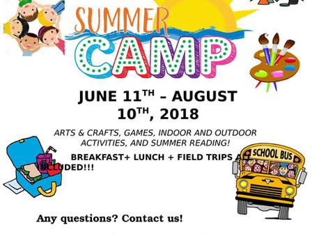 Summer Camp - Run by FFK8 Adult Center