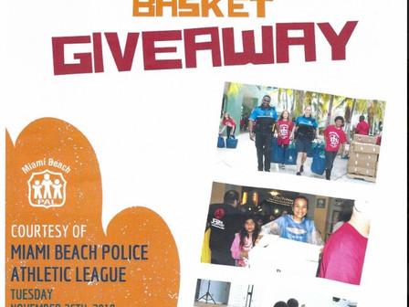 Thanksgiving Basket Giveaway 11/26 North Shore Park  Cesta De Cena Para El Día De Acción De Gracias