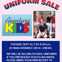 Uniform Sale Sept 24 7:30-8:30          @Main school entrance on Drexel Circle  Venta de Uniforme 24