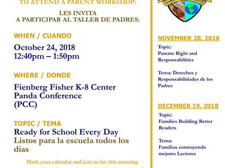 Parent Academy 10/24/18