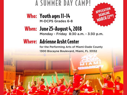 Free Summer AileyCamp for Middle Schoolers from June 24-August 4,2018!
