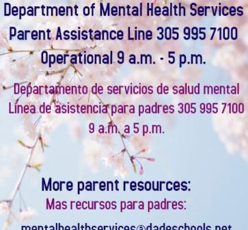 Mental Health Services                  Servicios de Salud Mental