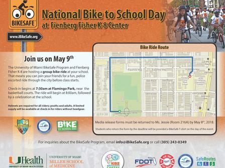 FFK8 Celebrates National Bike To School Day, May 9th, 2018