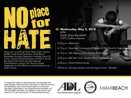Wed, May 2: Anti-Defamation League Ceremony / Rock Ensemble Performance