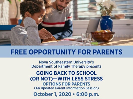 Nova Univ Zoom For Parents About Going Back To School