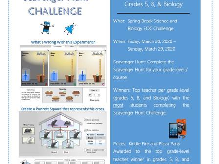 Gizmos Spring Break Science Challenge Reto de Ciencia 'Gizmos' - Primavera 2020