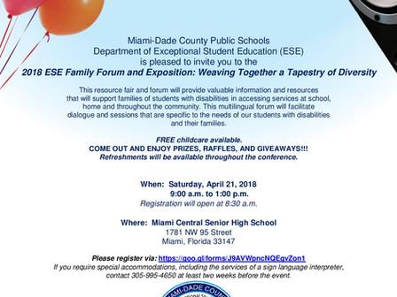 ESE Family Forum + Exposition Sat Apr 21