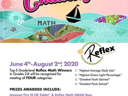 Summer 2020 Reflex Math Challenge, Grades 2-8                                Competencia de Matemáti
