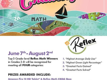 GRADES 2-8: REFLEX MATH SUMMER CHALLENGE
