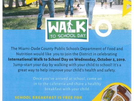 10/2 International Walk to School Day / Día Internacional de Caminar a la Escuela