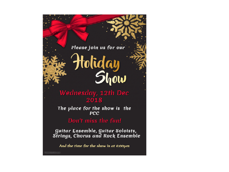 Fienberg Fisher Holiday Show Dec 12