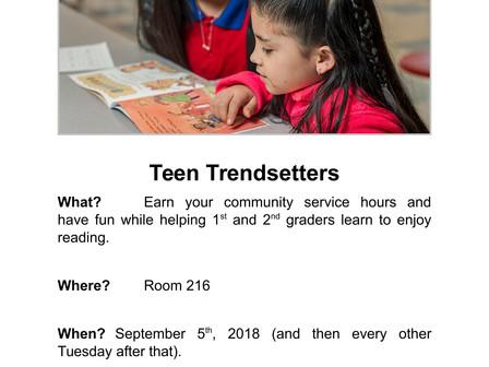 Teen Trendsetters - Community Service Opportunity