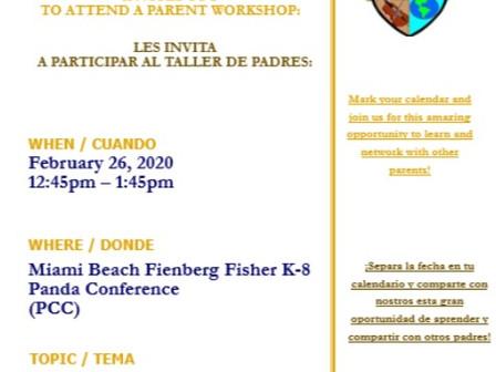 2/26/20 Mental Health Awareness Workshop                                          2/26/20 Taller: Co