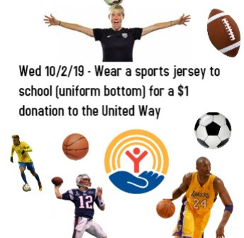 Sports Jersey Day Wed Oct 2