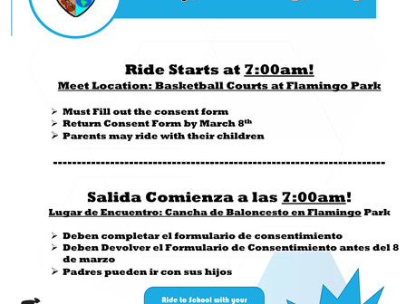 Bike To School Day: 3/15/19