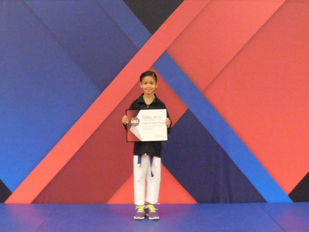 Congratulations to Pamela, 2nd grader and Karate Champ! Pamela recently finished second in the natio