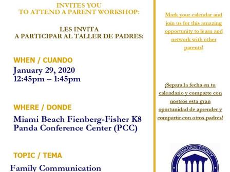 Parent Academy 1/29/20               Acadamía de los Padres 1/29/20