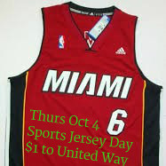 Sports Jersey Day - Wed Oct 4