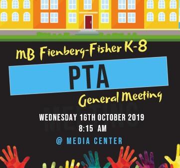 PTA General Assembly                     Reunión General de la Asociación de Padres y Maestros