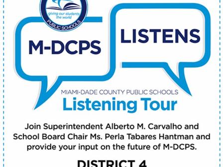 3/16/21 MDCPS Listening Tour - Join Us Tomorrow!***¡Únase A Nosotros Mañana!***Jwenn Nou Demen!