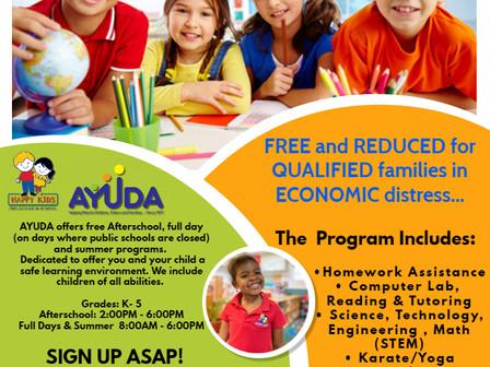After School & Summer Program    Programa Extracurricular y De Verano
