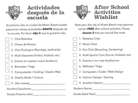 After-School Activities 2018-2019