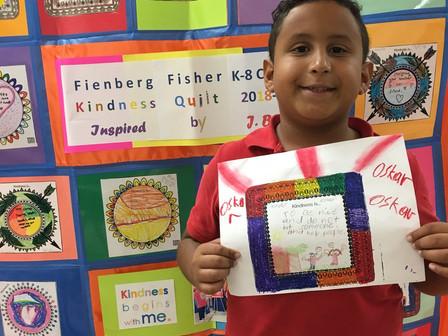 Our Kindness Quilt - showcasing our Jennifer Beth Turken KINDNESS Award winners!