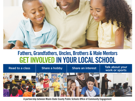 Calling all male volunteers! Please join us on Thursday, May 16th for our Fathers In Education Event