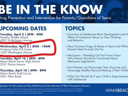 Drug Prevention - Parents Meeting 4/3/19