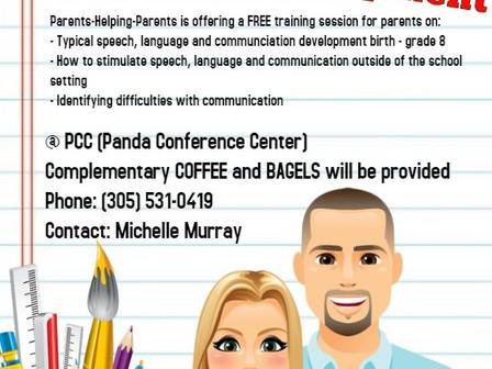 Language Development Session - Free Bagels + Coffee  Dec 6, 8:45                           Sesión de