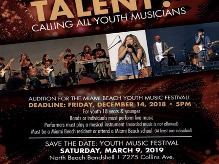 Calling all Youth Musicians In Miami Beach!