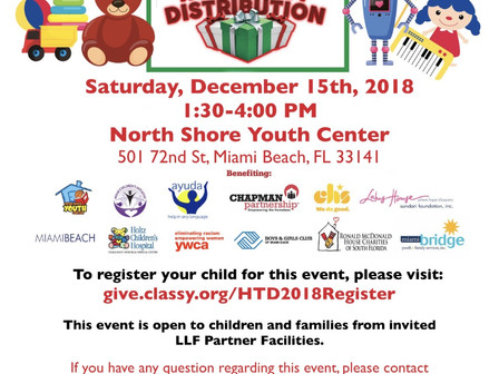 Sign up now for Little Lighthouse Foundation HOLIDAY TOY DISTRIBUTIONS!  Regístrese ahora para Littl