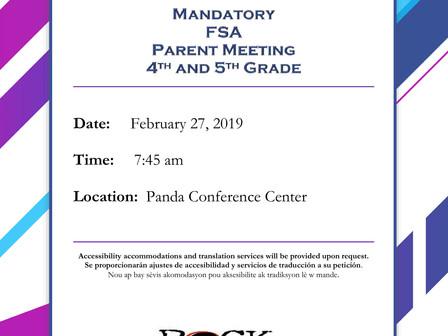 4th + 5th Grade - 2/27 FSA Parent Meeting