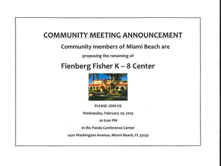 2/20/19 Community Meeting About Possible Renaming of our School