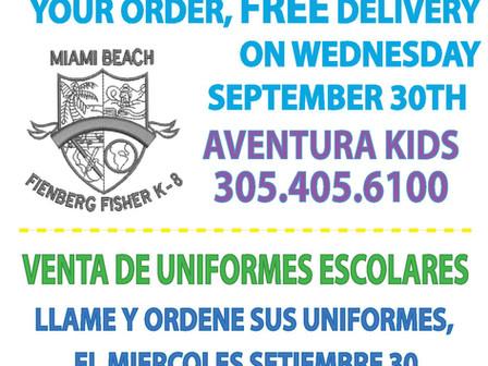 Uniform Sale                                          Venta De Uniformes