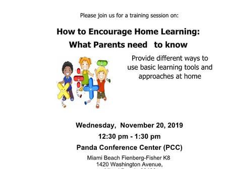 11/20 Parent Meeting: How to Encourage Home Learning                                      11/20 Reun