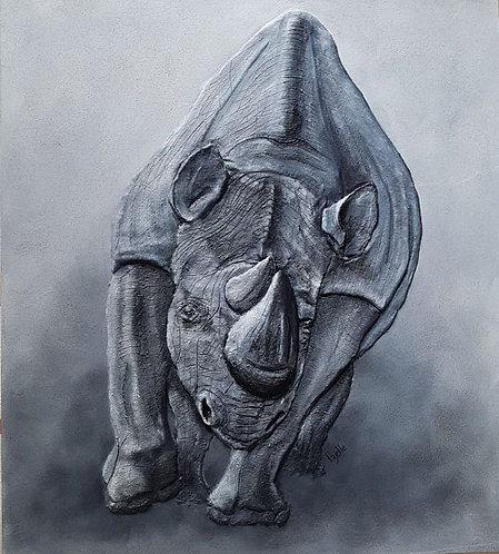 African black rhino 90x80