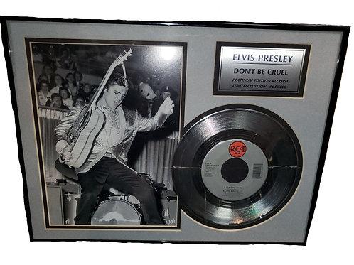 """Elvis Framed """"Don't Be Cruel"""" Platinum Record"""