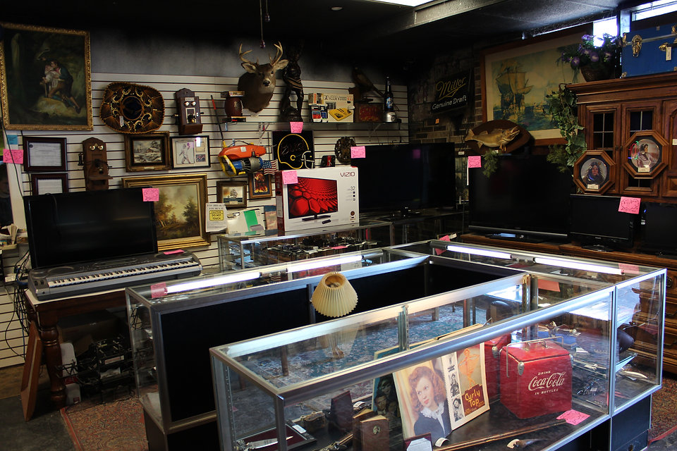 Inside a cool pawn shop