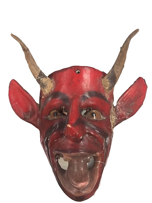 Mexican Diablo Wood carved Mask