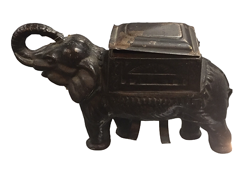 Cast Iron Elephant Cigarette Holder