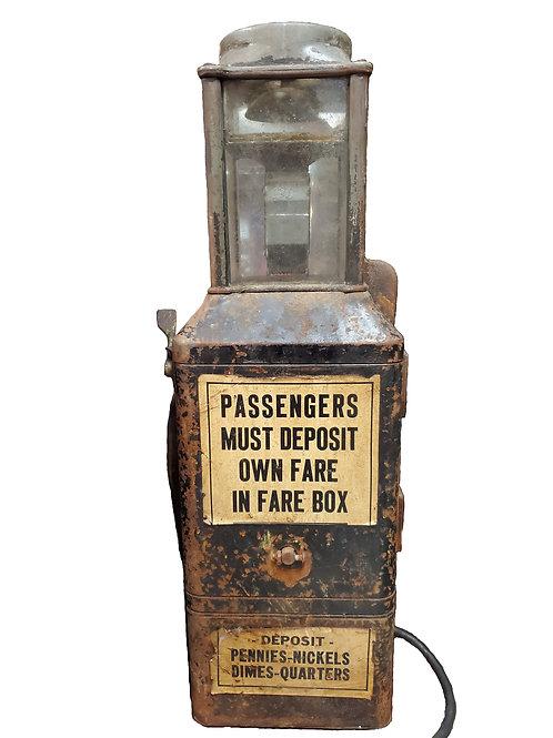 Vintage Johnson Bus Trolley Fare Box