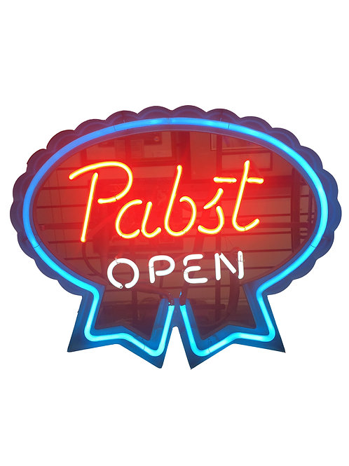 Vintage Pabst Open Neon Sign