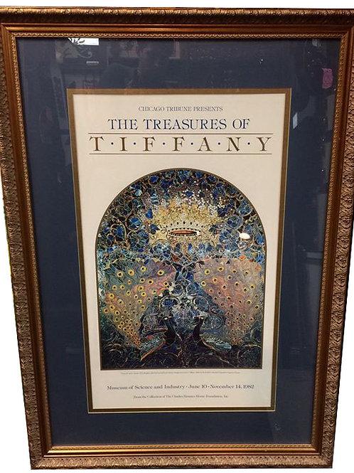 Framed Chicago Tribune 1982 - Treasures of Tiffany