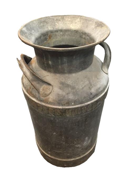 Antique Large Metal Milk Jug
