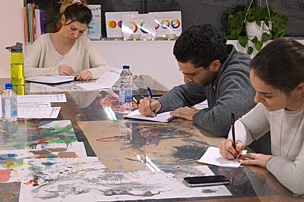 les participants créent des textes riches à L'Infusart