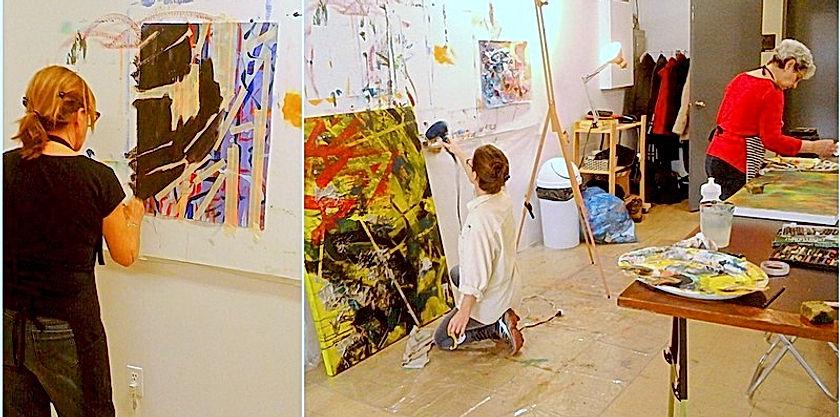 Prendre des cours de peinture acrylique à Montréal.