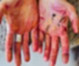 mains peintes a linfusart