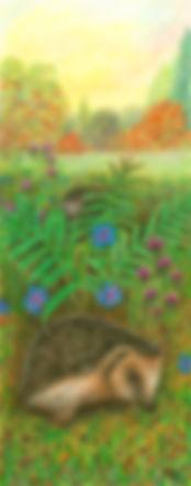JoanHudson-Hedgehogs-Acrylic&mixedmedia.