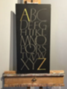 N Sculpture Studio Alphabet carved in sl